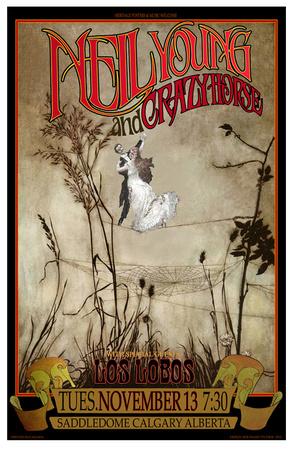 Neil Young & Crazy Horse Calgary concert Poster von Bob Masse