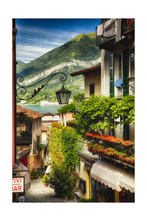 Bellagio Street View, Lake Como, Italy Photographic Print by George Oze