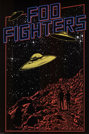 Foo Fighters- UFO Print