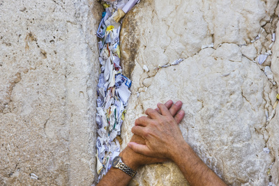 Prayers in the Western Wall Photographic Print by Jon Hicks