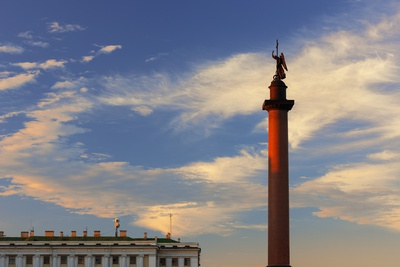 Alexander Column in Palace Square. Photographic Print by Jon Hicks