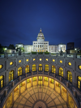 The Texas State Capitol Building in Austin, Texas. Photographic Print by Jon Hicks