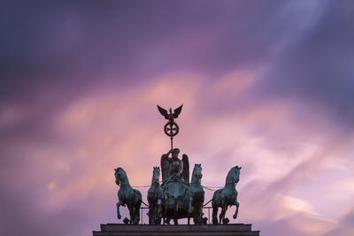 Detail of Brandenburg Gate at Dusk. Photographic Print by Jon Hicks