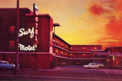 Surf Motel at Sunset Photographic Print by Found Image Press