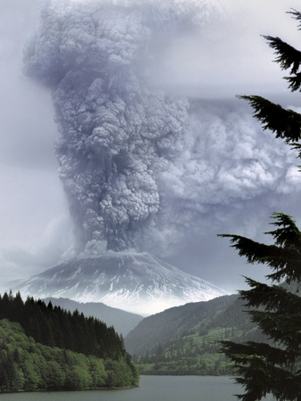 Mount St. Helens Eruption Photographic Print by Steve Terrill