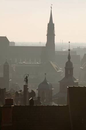 Nuremberg in Germany Looking toward St. Lorenzkirche Photographic Print by Jon Hicks