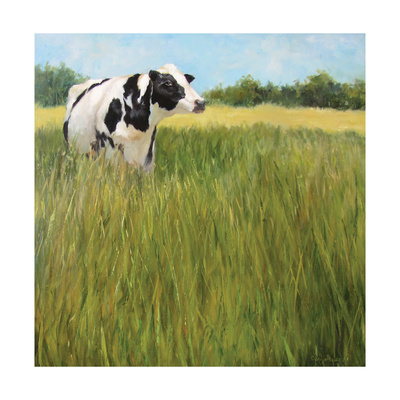 Holstein Outstanding in Her Field Posters by Cheri Wollenberg