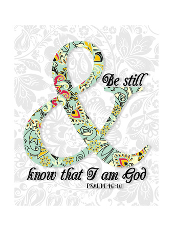 Be Still Psalm 46 10 Art by Tara Moss
