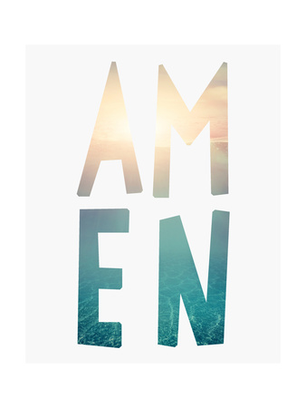 Amen Water Posters by Tara Moss
