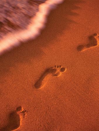 Footprints Prints by Dennis Frates