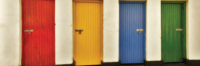 Painted Doors II Photographic Print by Dennis Frates