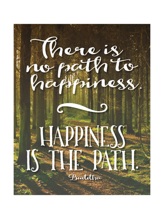 Buddha Path to Happiness Poster by Tara Moss