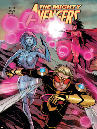 The Mighty Avengers No.21 Cover: Wasp, Jocasta and Scarlet Witch Plastic Sign by Khoi Pham