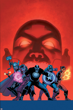 Uncanny Avengers 7 Cover: Havok, Captain America, Sunfire, Scarlet Witch, Thor Wall Decal by John Cassaday