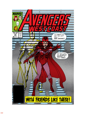 Avengers West Coast No.47 Cover: Scarlet Witch and Vision Wall Decal by John Byrne