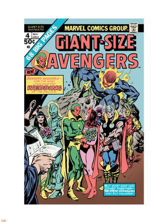 Giant-Size Avengers No.4 Cover: Vision, Scarlet Witch, Thor, Iron Man and Dormammu Wall Decal by Don Heck