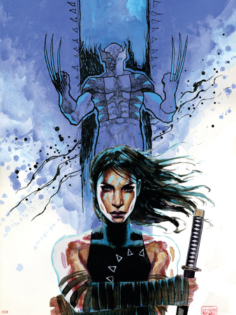 New Avengers No.39 Cover: Echo and Wolverine Wall Decal by David Mack
