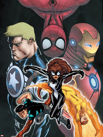 Avengers Academy Giant-Size No.1 Cover: Spider-Girl, Firestar, Reptil, Iron Man and Others Plastic Sign by Ed McGuinness