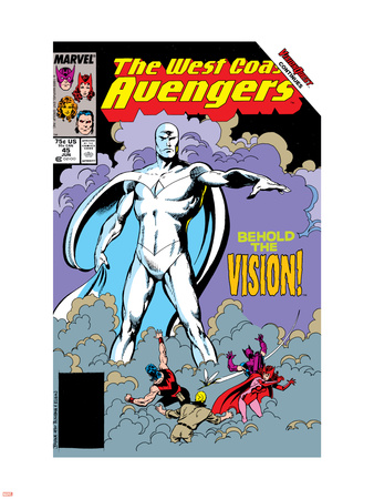 Avengers West Coast No.45 Cover: Vision Wall Decal by John Byrne