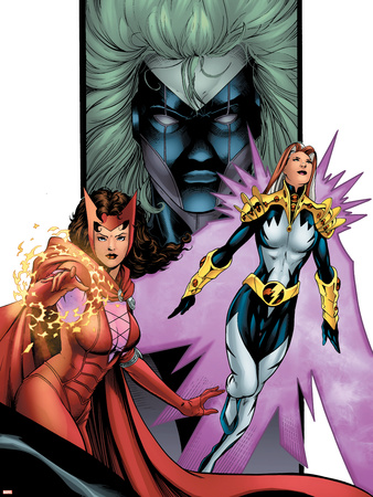 Avengers/Thunderbolts No.2 Cover: Scarlet Witch, Songbirg and Vantage Wall Decal by Barry Kitson