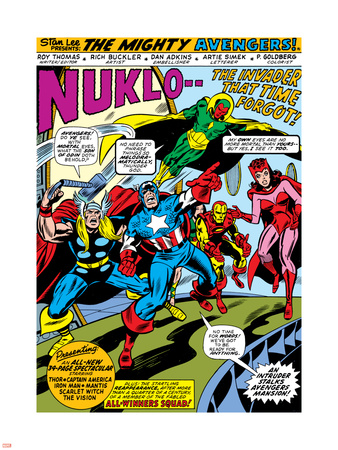 Giant-Size Avengers No.1 Group: Iron Man, Captain America, Thor, Vision and Scarlet Witch Wall Decal by Rich Buckler