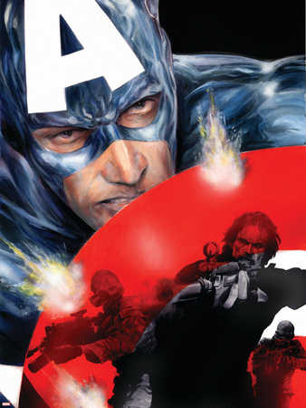 Captain America No.37 Cover: Captain America Plastic Sign by Jackson Guice