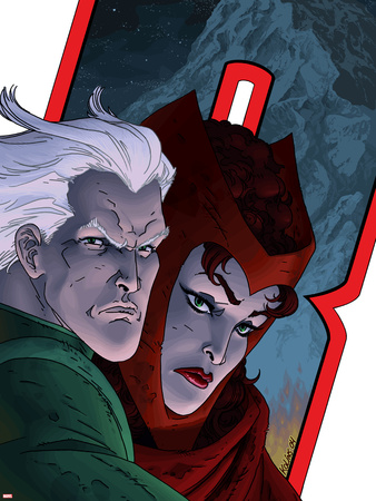 Avengers: Earths Mightiest Heroes No.7 Cover: Quicksilver and Scarlet Witch Wall Decal by Scott Kolins