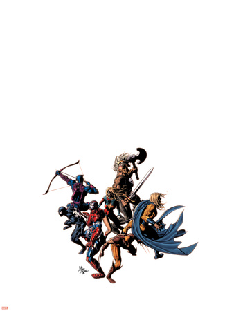 Dark Avengers No.12 Cover: Wolverine, Iron Patriot, Sentry, Spider-Man, Hawkeye, Ms. Marvel & Ares Plastic Sign by Mike Deodato