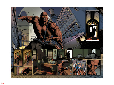 New Avengers No.23: Panels with Luke Cage Wall Decal by Mike Deodato