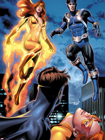 I Am An Avenger No.2: Firestar and Justice Flying Plastic Sign by Mike Mayhew