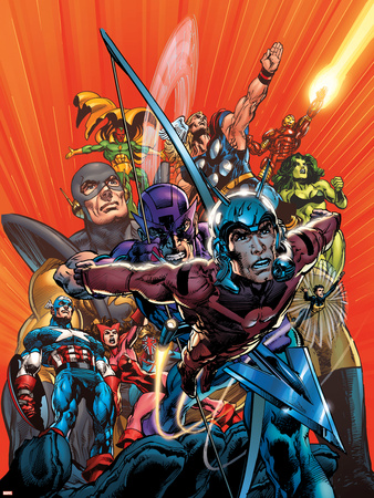 Avengers Finale No.1 Cover: Ant-Man Wall Decal by Neal Adams