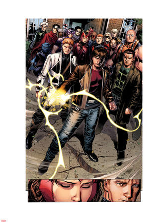 Avengers: The Childrens Crusade No.7: Rictor, Shatterstar, Madrox, Strong Guy, and Scarlet Witch Wall Decal by Jim Cheung