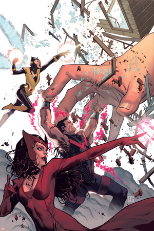 Avengers Assemble 20 Cover: Wasp, Wonder Man, Scarlet Witch Wall Decal by Jorge Molina