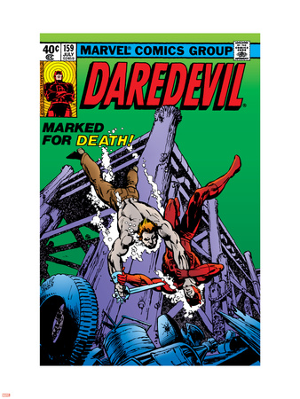 Daredevil No.159 Cover: Daredevil Plastic Sign by Frank Miller
