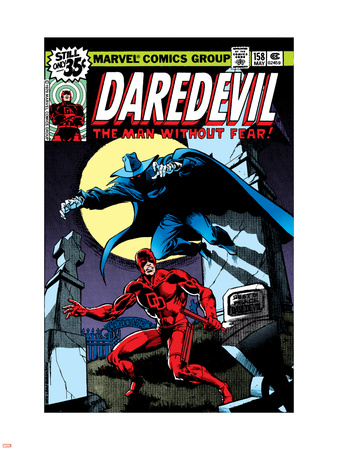 Daredevil No.158 Cover: Daredevil and Death-Stalker Plastic Sign by Frank Miller
