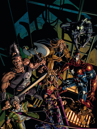 Dark Avengers No.10 Cover: Hawkeye Plastic Sign by Mike Deodato
