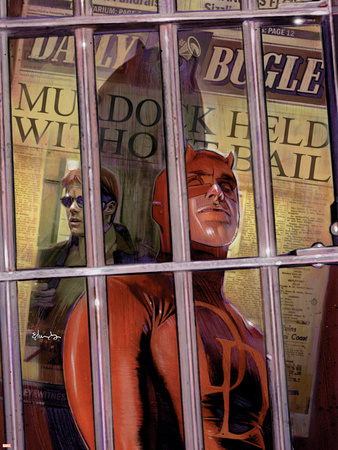 Daredevil No.82 Cover: Daredevil Plastic Sign by Tommy Lee Edwards