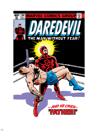 Daredevil No.164 Cover: Daredevil Plastic Sign by Frank Miller
