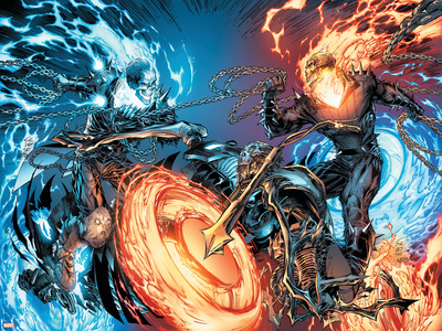 Ghost Rider No.28 Cover: Ghost Rider Plastic Sign by Marc Silvestri