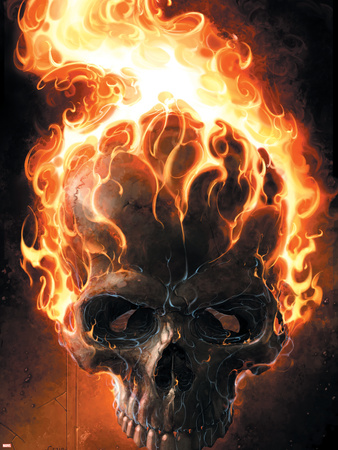 Ghost Rider No.2 Cover: Ghost Rider Plastic Sign