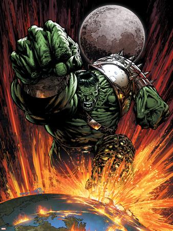 World War Hulk No.1 Cover: Hulk Flying Plastic Sign by David Finch