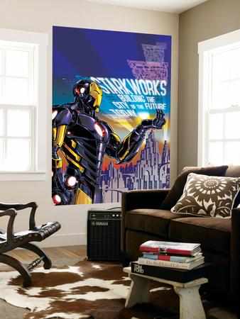Iron Man 18 Cover: Iron Man Wall Mural by Paul Rivoche