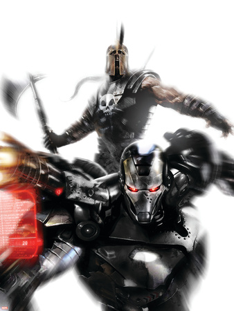 War Machine No.4 Cover: War Machine and Ares Fighting Plastic Sign by Francesco Mattina