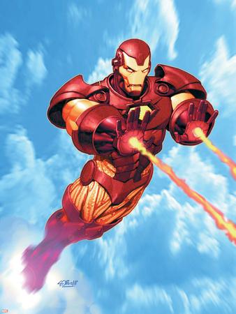 Iron Man: Iron Protocols No.1 Cover: Iron Man Fighting Plastic Sign by Ariel Olivetti