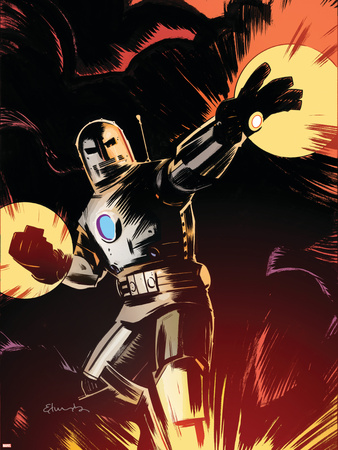 Marvel Adventures Iron Man No.9 Cover: Iron Man Wall Decal by Tommy Lee Edwards
