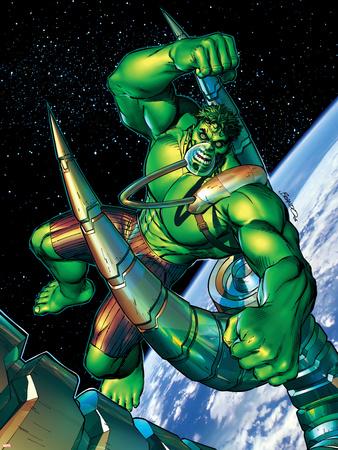 Incredible Hulk No.89 Cover: Hulk Wall Decal by Brandon Peterson