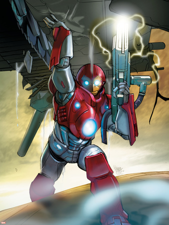 Ultimate Iron Man II No.5 Cover: Iron Man Wall Decal by Pasqual Ferry