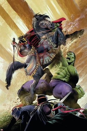 Indestructible Hulk 13 Cover: Hulk, Black Knight Wall Decal by Mukesh Singh