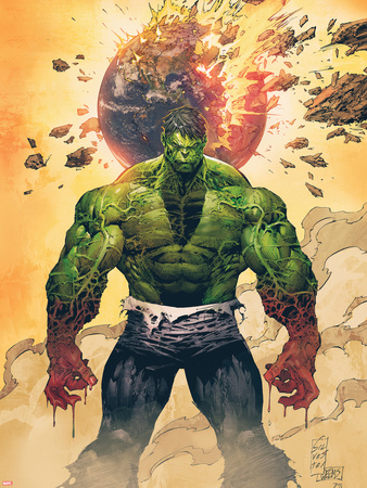 Incredible Hulk No.1 Cover: Hulk Standing Plastic Sign by Marc Silvestri