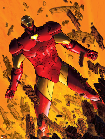 Marvel Adventures Iron Man No.2 Cover: Iron Man Wall Decal